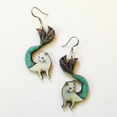 Mermaid Cat Earrings - Organic World Nation