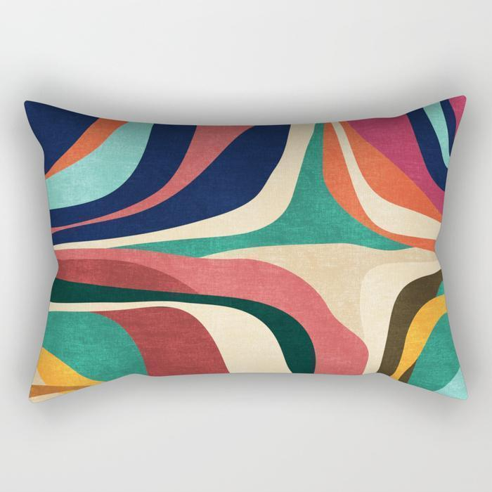 Abstract Contour Rectangle Pillow - Organic World Nation
