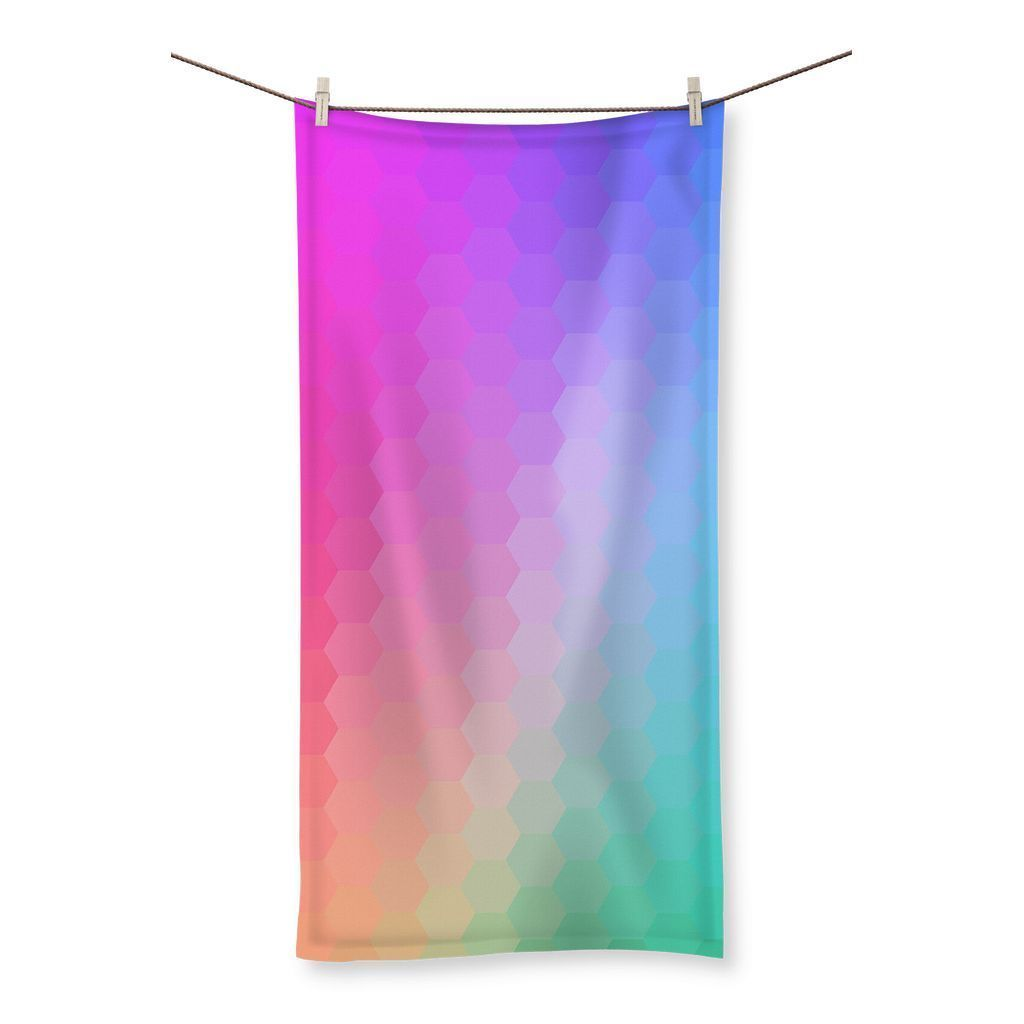 Abstract Gradient Rainbow Beach Towel - Organic World Nation