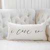 I Love Us Lumbar Pillow - Organic World Nation