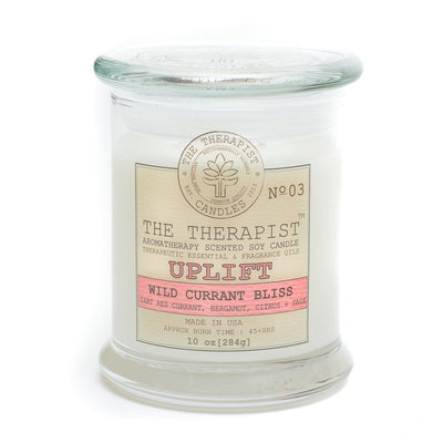 The Therapist Uplift Wild Currant Bliss Soy Candle Made in USA - Organic World Nation
