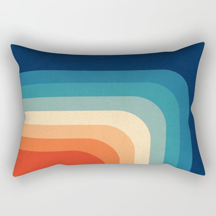 Rainbow Lines Rectangle Pillow - Organic World Nation