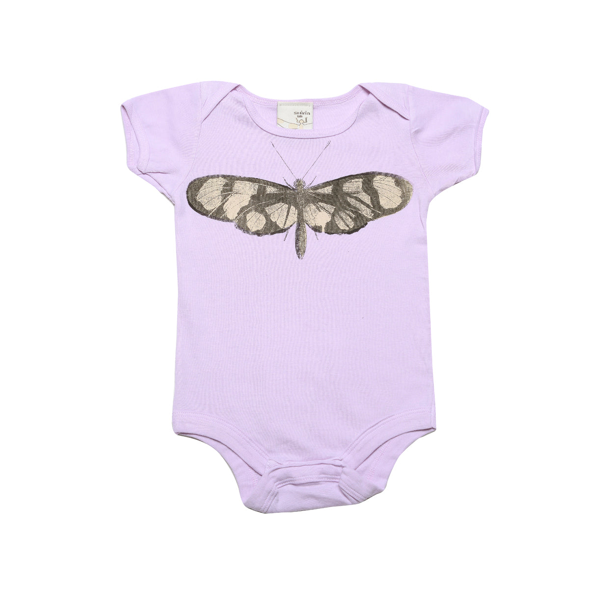 Organic infant bodysuit- Butterfly print - Organic World Nation