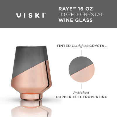 Dipped Crystal Stemless Wine Glasses by Viski® - Organic World Nation