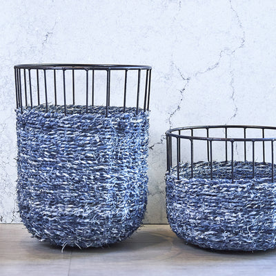 Stool with Denim - Small - Organic World Nation
