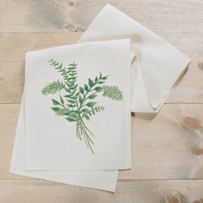 Eucalyptus Bunch Watercolor Table Runner - Organic World Nation