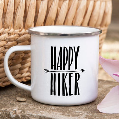 Hiking Gift for Hiker Enamel Mug Wanderlust - Organic World Nation