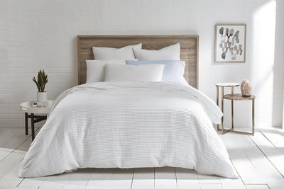 100% Organic Cotton Woven Pleated Duvet set - Organic World Nation
