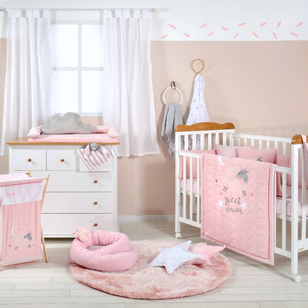 Pink Sheep Baby Bedding Collection - Organic World Nation