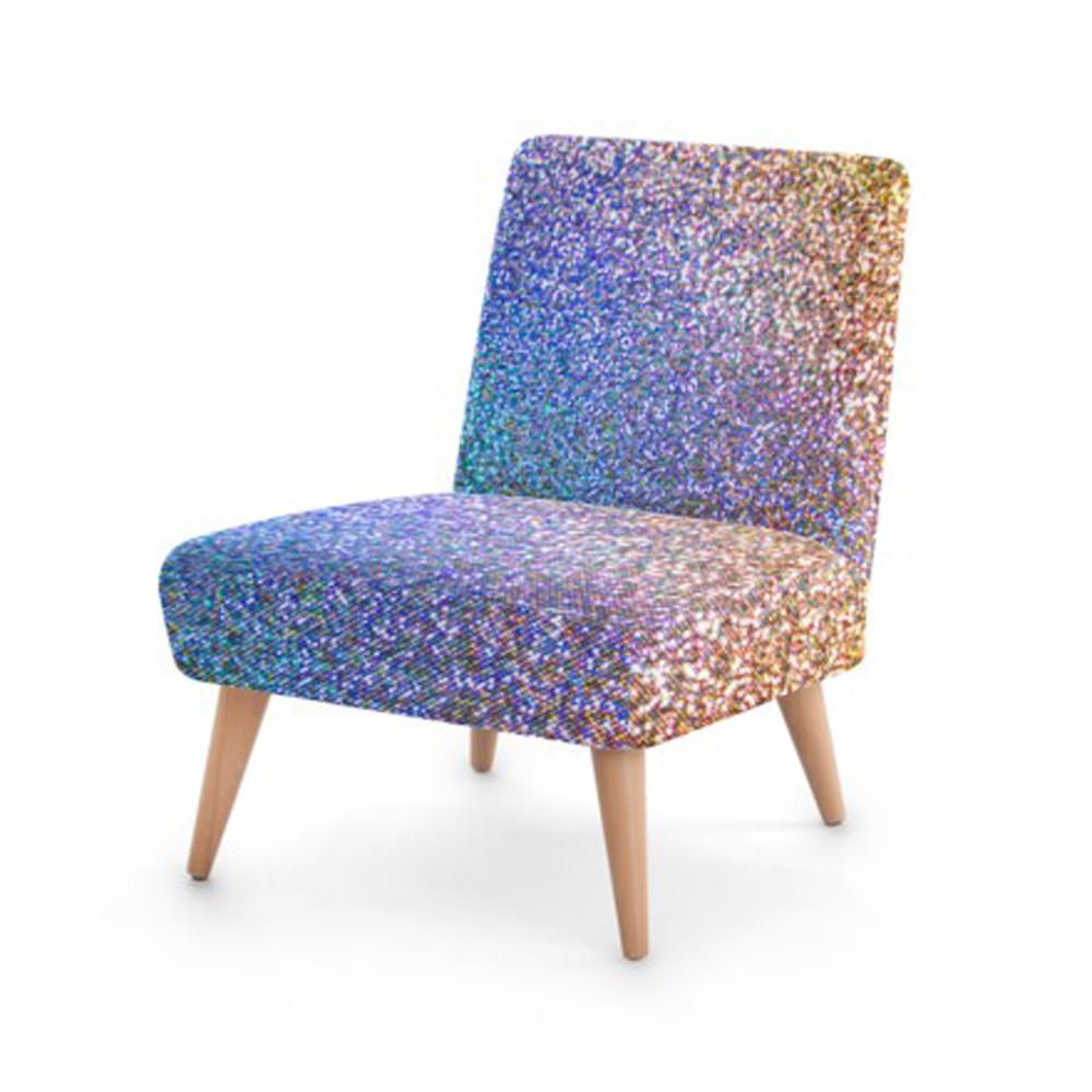 Luxury Glitter Print Accent Occasional Chair - Organic World Nation