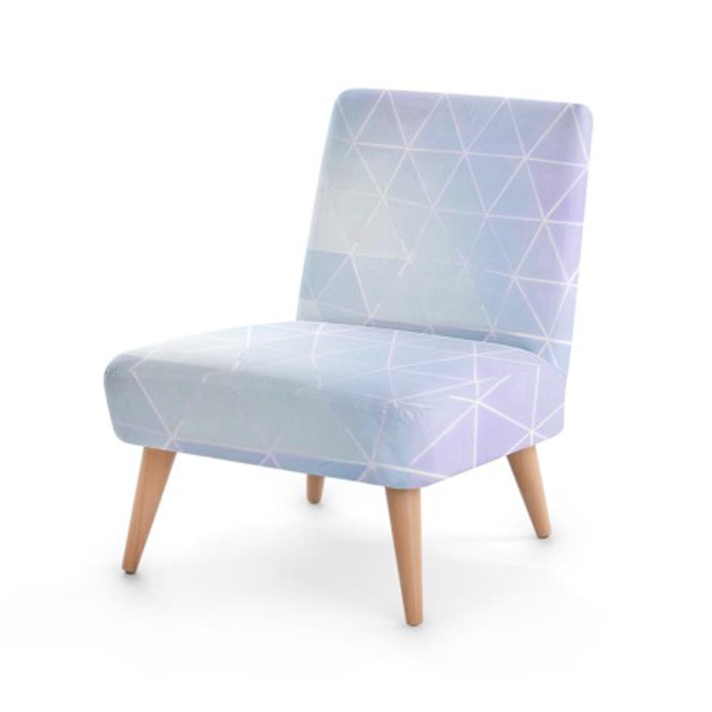 Geometric Pearl Print Accent Occasional Chair - Organic World Nation