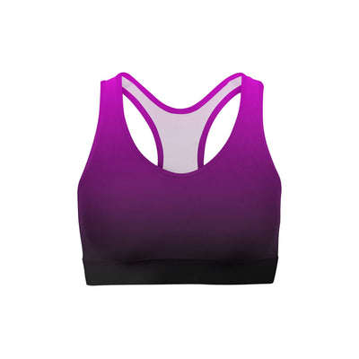 Pink Black Ombre Sports Bra - Organic World Nation