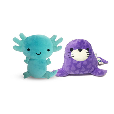Axolotl and Spotted Seal Plush Toys - Organic World Nation