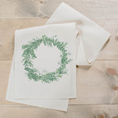 Floral Wreath Watercolor Table Runner - Organic World Nation