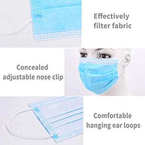 Millennium Disposable Ear-Loop Face Mask, Made in USA, Box of 50
