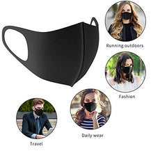 Load image into Gallery viewer, 6 Pack Fashion Unisex Washable Reusable Anti-Dust Protective Sponge Face Masks, Black and Gray