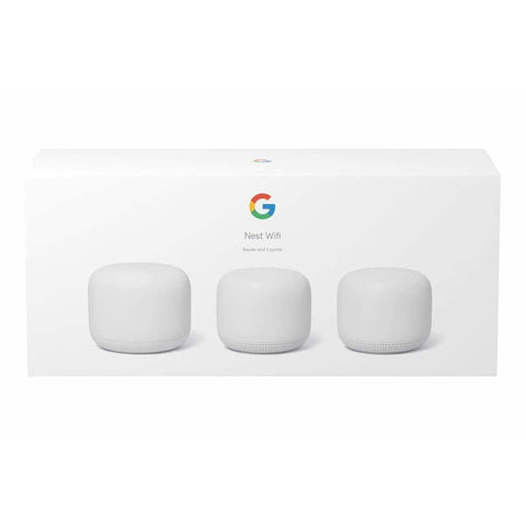 Google Nest Wi-Fi Router Base plus 2 Mesh Points