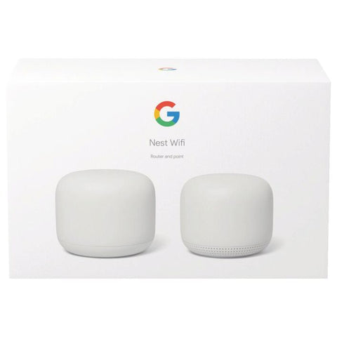 Google Nest Wi-Fi Router Base plus 1 Mesh Point