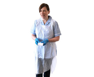 Disposable Polythene Apron in Clear - 1 x Carton of 1000 pcs