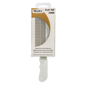 WAHL FLAT TOP COMB - WHITE