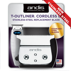 ANDIS CORDLESS T-OUTLINER STAINLESS STEEL BLADE #04570