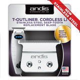 ANDIS CORDLESS T-OUTLINER STAINLESS STEEL BLADE #04575