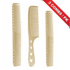 METAL COMBS 3 PCS SET - GOLD