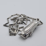 BX BARBER CLIPPER NECKLACE W/ CHAIN - SILVER FINISHED