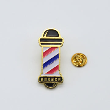 BX LAPEL PIN BARBER POLE - GOLD