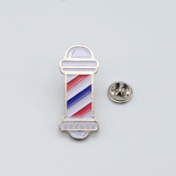 BX LAPEL PIN BARBER POLE - SILVER