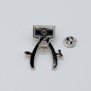 BX LAPEL PIN HAND CLIPPER - SILVER