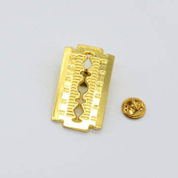 BX LAPEL PIN RAZOR BLADE - GOLD