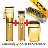 BABYLISS PRO GOLD FX 4PCS COMBO PACKAGE