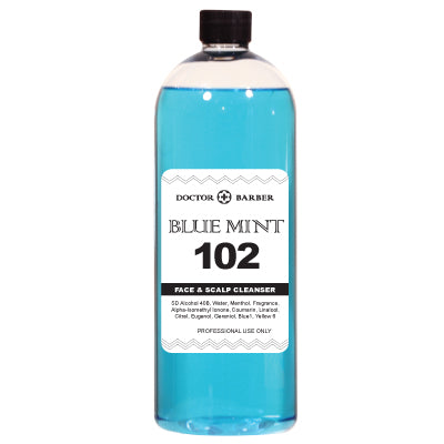 DR. BARBER BLUE MINT AFTER SHAVE 34 OZ.