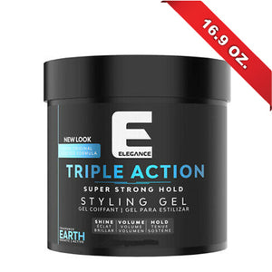 ELEGANCE HAIR GEL TRIPLE ACTION BLUE 17 OZ.