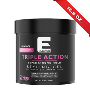 ELEGANCE HAIR GEL TRIPLE ACTION PINK 17 OZ.