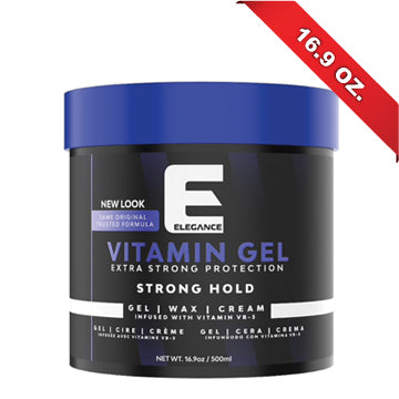ELEGANCE HAIR GEL VITAMIN 17 OZ.