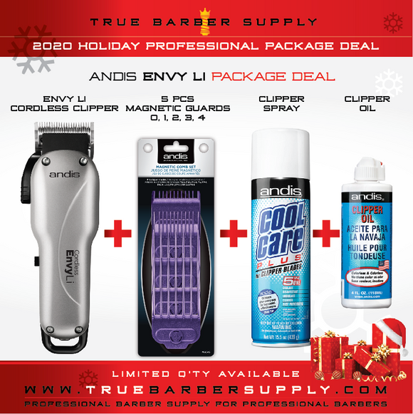 2020 HOLIDAY ANDIS CORDLESS ENVY LI PACKAGE DEAL