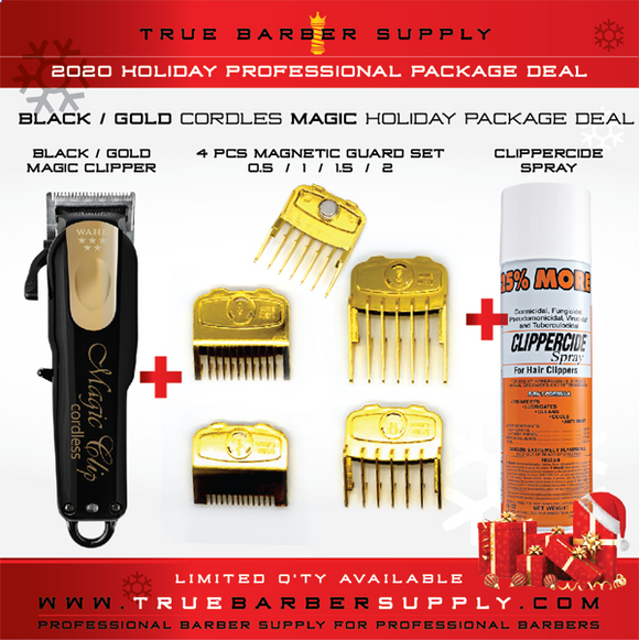 2020 HOLIDAY WAHL CORDLESS BLACK / GOLD MAGIC PACKAGE DEAL