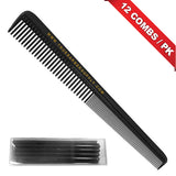 "TBS 7"" TAPERED BARBER COMBS - 12 COMBS / PK"