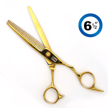 TRUE CUT CLASSIC EURO THINNING (28T) SHEARS GOLD 6.5