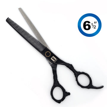 TRUE CUT RETRO THINNING (46T) SHEARS BLACK 6.5