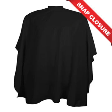 VINCENT CUTTING CAPES SNAP CLOSURE - BLACK