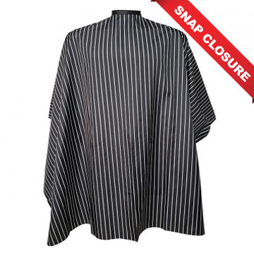 VINCENT CUTTING CAPES SNAP CLOSURE - BLACK STRIPE