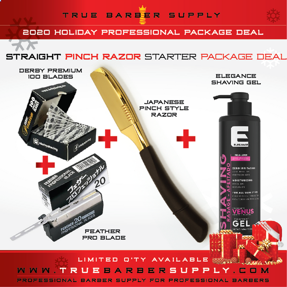 2020 HOLIDAY GOLD STRAIGHT RAZOR PACKAGE DEAL