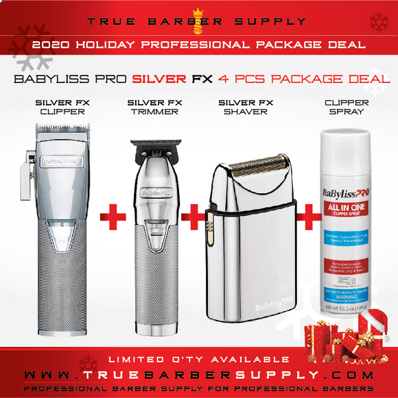 2020 HOLIDAY BABYLISS PRO SILVER FX 4 PCS PACKAGE DEAL