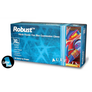Aurelia® Robust™ Blue Nitrile Disposable Gloves (1,000 Pieces)
