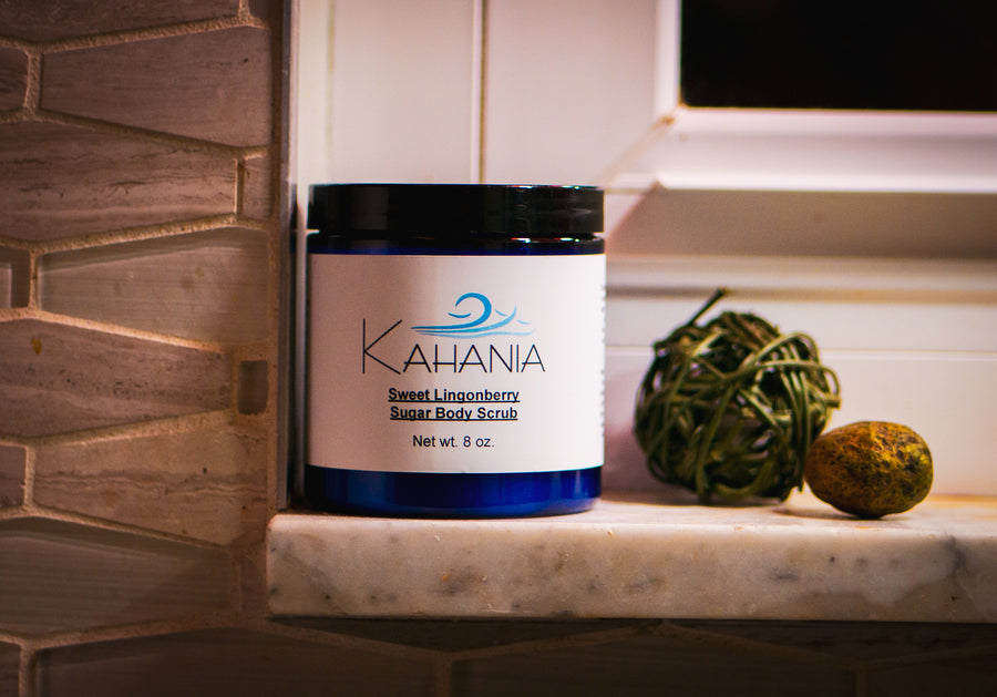 Sweet Lingonberry Sugar Body Scrub - Kahania Natural