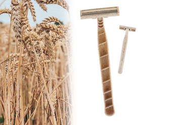 Eco-Friendly Biodegradable Wheat Disposable Shaving Razors 15 Pack and FREE 1 oz Organic Shave Mist - Kahania Natural