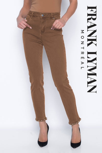 Frank Lyman 203127U Chestnut Brown Jeans With Box Detail
